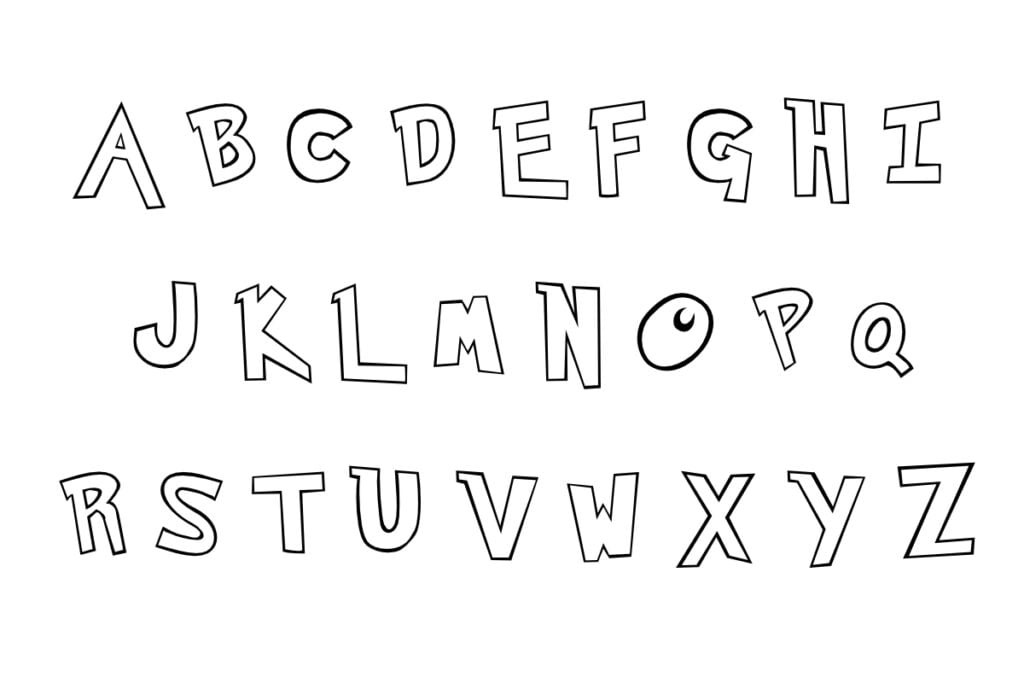 lettering abecedario facil
