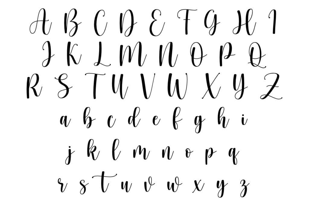 lettering abecedario mayusculas