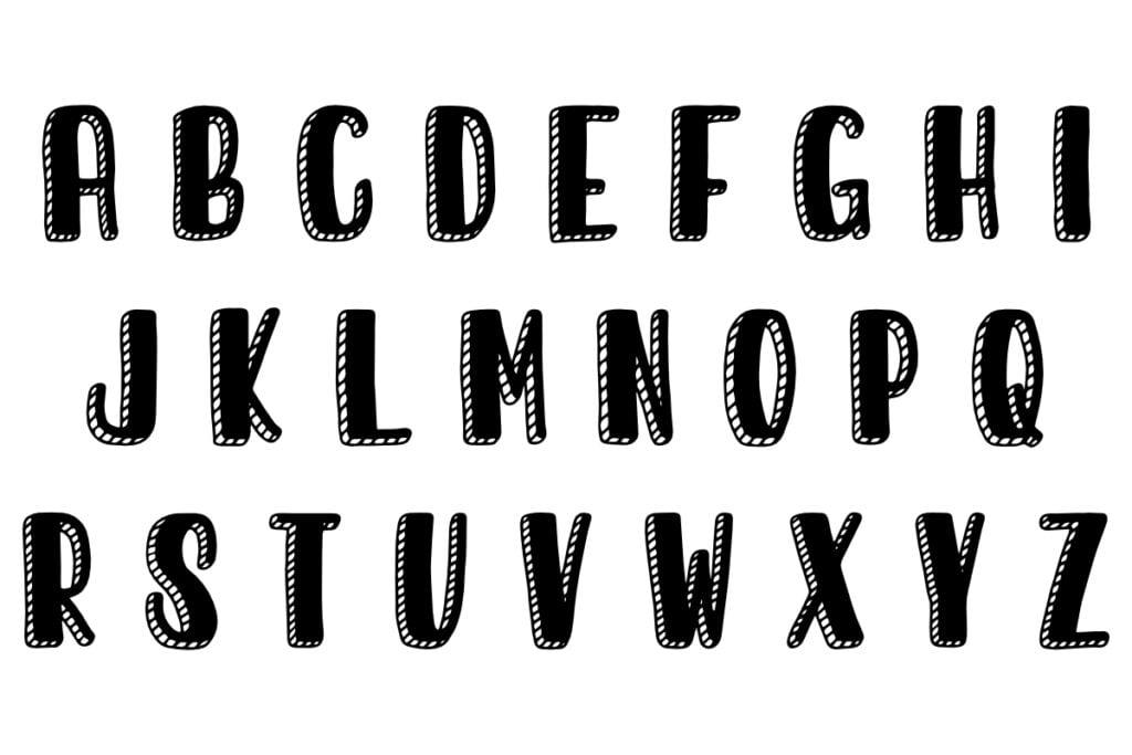 lettering abecedario plantillas