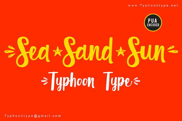 lettering tipografia Sea Sand Sun