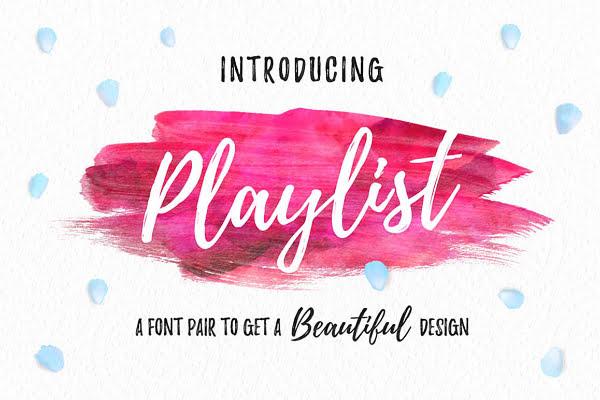 playlist descargar fuente lettering gratis
